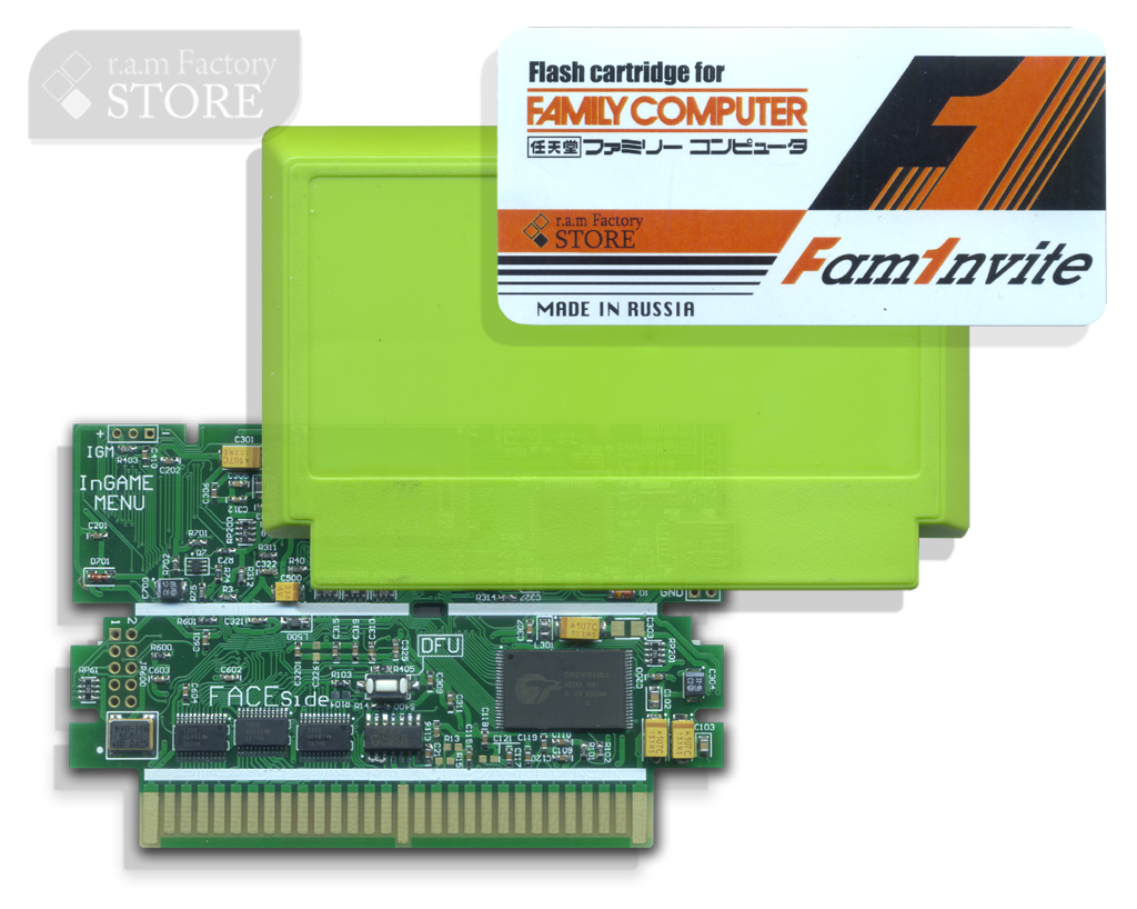FAMINVITE Flash (SRAM) CARD FOR FAMICOM with Case